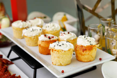Small cakes on event catering