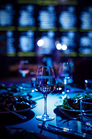 Glass on a banquet table. Stock Photo