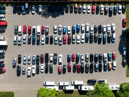 Top view of car parking. Stock Photo
