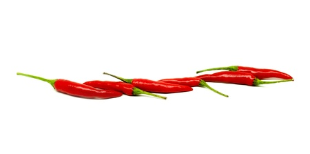 diet concept: red thai chili in diet concept Stock Photo
