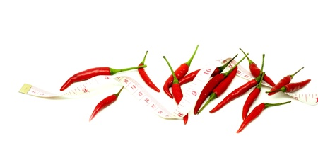 red thai chili in diet concept Stock Photo