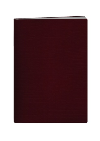blank passport with crimson color cover on white background
