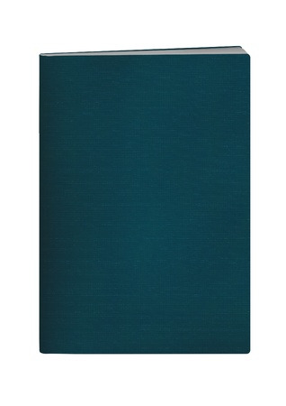 blank passport with Dark Cyan color cover on white background