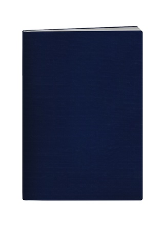 blank passport with blue color cover on white background Reklamní fotografie