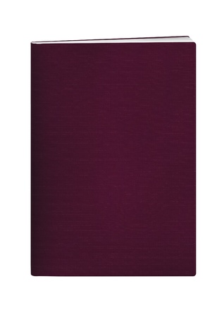 blank passport with maroon color cover on white background Stock Photo