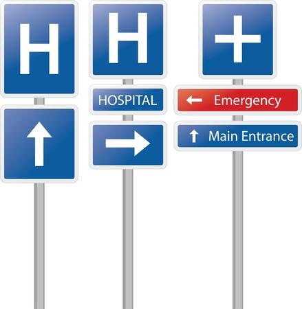 hospital label isolated Illustration