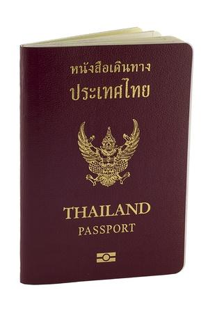Thai passport on white background