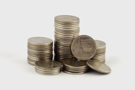 Thai Coins on white background