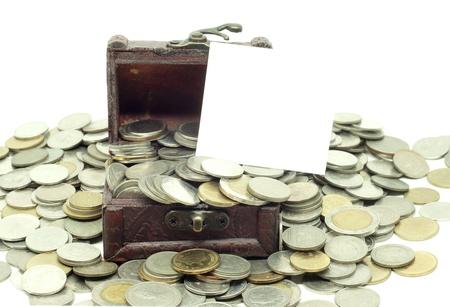 Thai coins money with Treasure Box