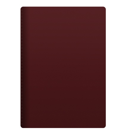 blank maroon passport isolated on white background Stock Photo