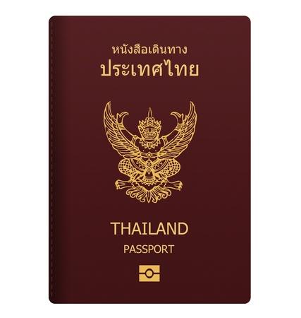 thai passport isolated on white background