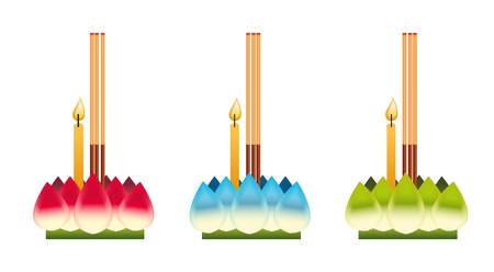 loi krathong ,thailand festival Ilustrace