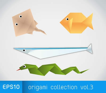 snake origami: origami collection 3