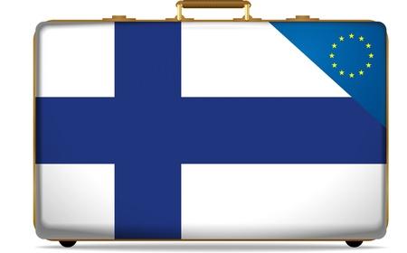 bandera de finlandia: finlandia el equipaje de mano
