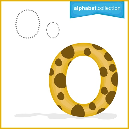 One letter of curve alphabet , alphabet collection Illustration