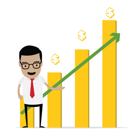 business man with stock graph