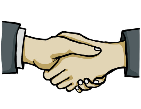 hand shake without background