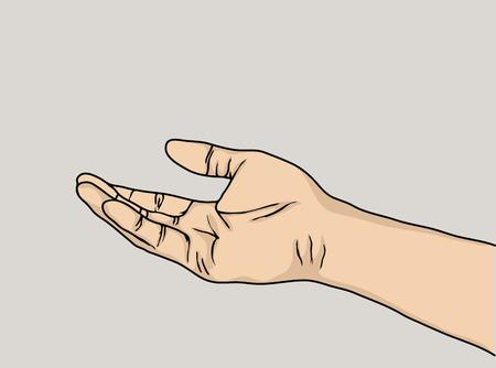 concept de vecteur de main