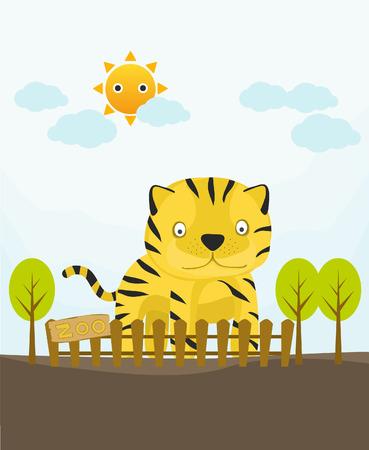 baby tiger: raccolta della carta animale, bambino tigre
