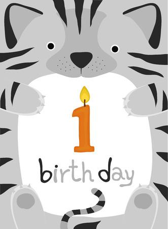 animal birthday collection, little cat