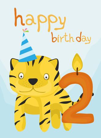 baby tiger: raccolta di carta animale, bambino tigre buon compleanno