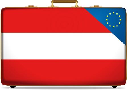Austria Flag on Luggage, Citizenship of the European Union photo