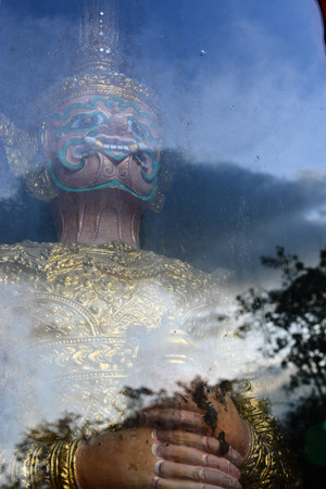 Thai Giant Statue on reflection