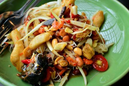 tam: Thai Papaya Salad   SOM TAM