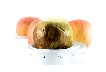 Withered Apple, Healthy concept photo