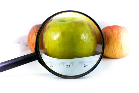 Withered Apple, Healthy concept Stock Photo
