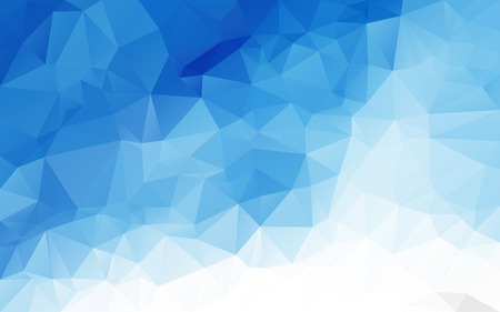 blue light: Abstract polygonal background,vector Illustration