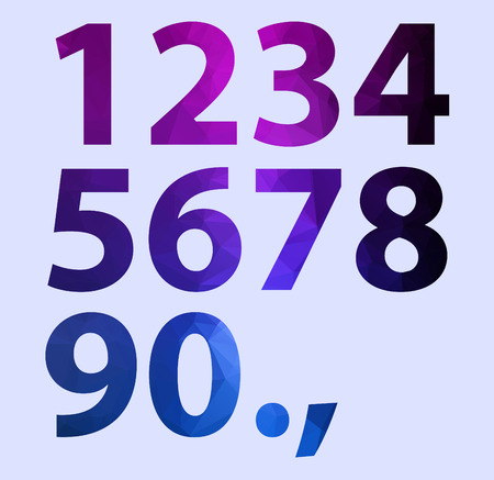 number polygon on color background Vector