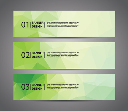 Polygon Banner, Colour polygon template with sample text