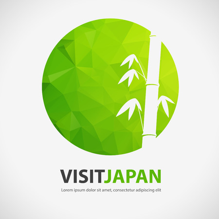 VISIT JAPAN, japan element with polygon background, vector Ilustrace