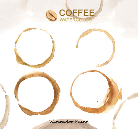 Coffee elements, Watercolor paint high resolution