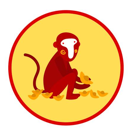 Red monkey, Chinese new year 2016 zodiac