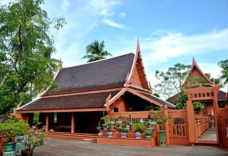 traditional house: Thai traditional house Stock Photo