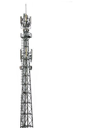 Fondo blanco aislado de la torre del teléfono celular. Foto de archivo