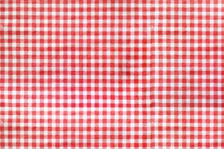 Red classic checkered table cloth texture. Foto de archivo