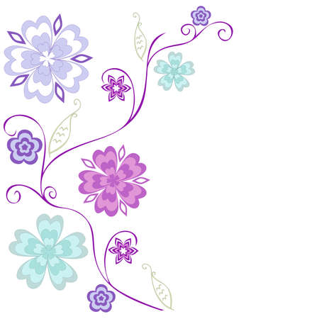 floral background with space for your text, illustration