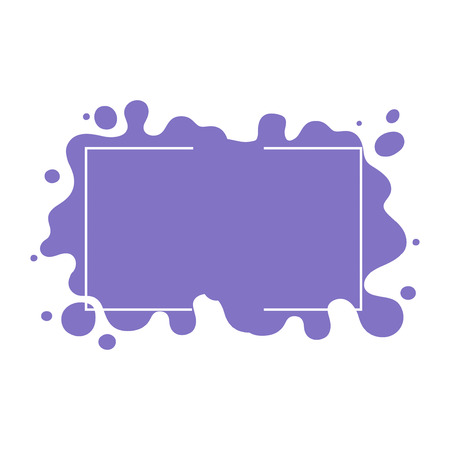 frame on black, purple and turquoise blots background