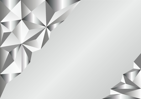 Light Silver, Gray vector polygon abstract template. Triangular geometric sample with gradient. A completely new template for your business design.