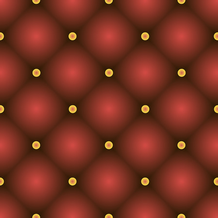 Red Quilted Seamless Vector Pattern. Vector background made with gradient mesh. Great for luxury and VIP projects.