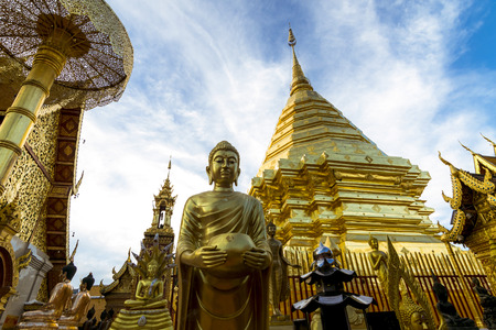 Wat Phra That Doi Suthep is famous tourist attraction in Chiang Mai, Thailand