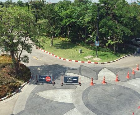 cruce de caminos: Cruce de caminos Foto de archivo