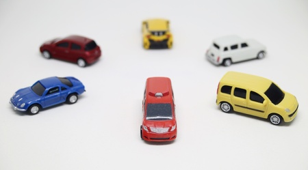 Speelgoed auto isolaat Stockfoto