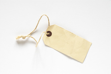 despatch: Brown card tag with string loop