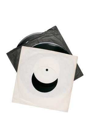 tatty: Two vinyl records in tatty paper sleeves