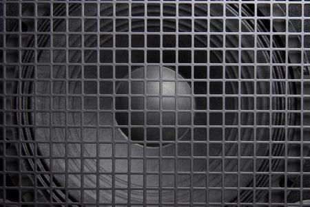 loudness: Close up detail of loudspeaker