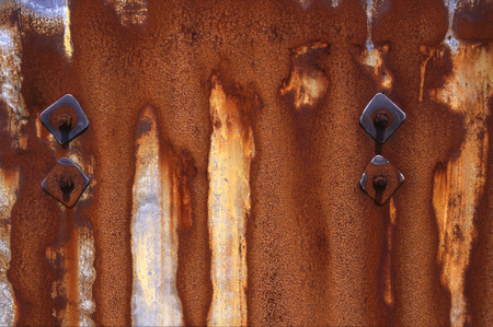 rusted: Rusted metal sheet